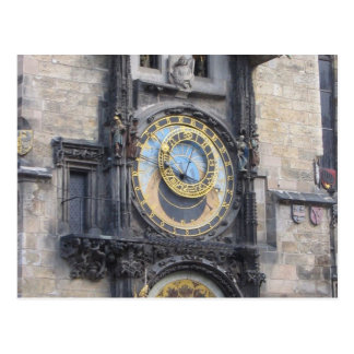Prague Astronomical Clock In The Old Town Square Postcard