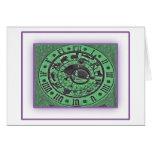 Prague Astronomical Clock - Neon Greeting Card