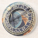 "prague astronomical clock sandstone coaster<br><div class=""desc"">prague astronomical clock sandstone coaster.</div>"