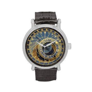 Prague astronomical clock wrist watch