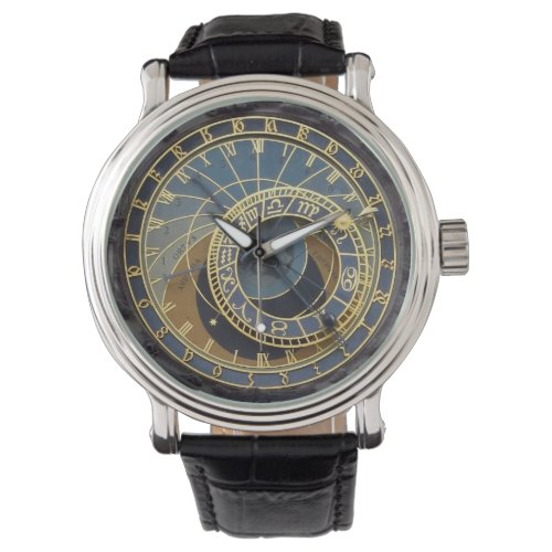 Prague astronomical clock wrist watch