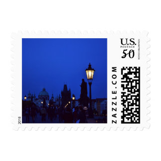 Prague at Night Postage Stamps