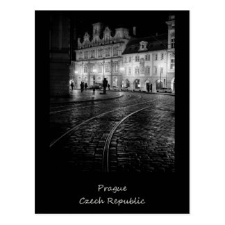 Prague at Night Postcard