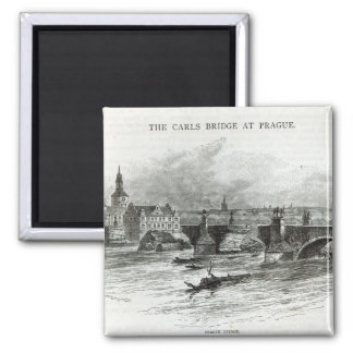 Prague Bridge, from 'Leisure Hour', 1891 Magnet