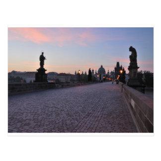 Prague by dawn postcard