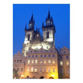 Prague by Night Postcard