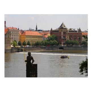 Prague by the Moldava River Post Card