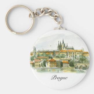 Prague Castle basic button key chain