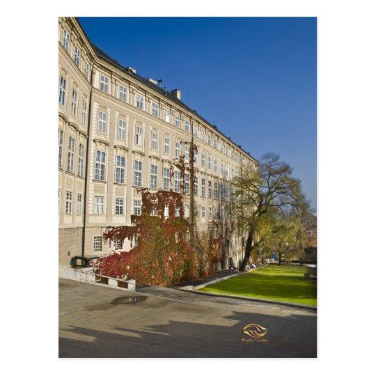 Prague Castle Garden Fall Postcard