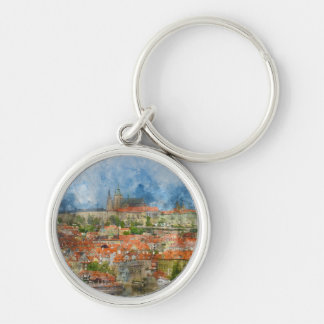 Prague Castle in Czech Republic Keychain