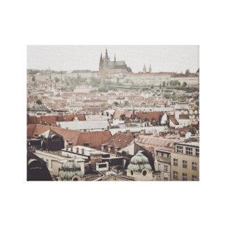 Prague Castle in the city of Prague Czech Republic Canvas Print