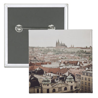 Prague Castle in the Czech Republic Button
