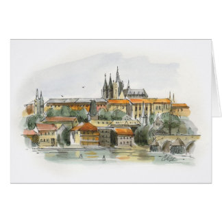 Prague Castle note card