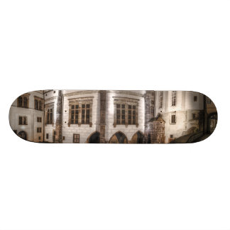 Prague Castle Palace Night Skateboard Deck