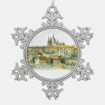 Prague Castle Pewter Ornament