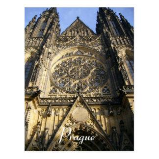 prague cathedral postcard