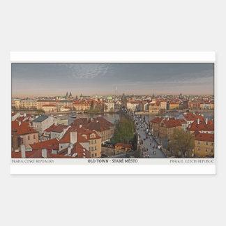 Prague - Charles Bridge and Old Town Rectangular Sticker
