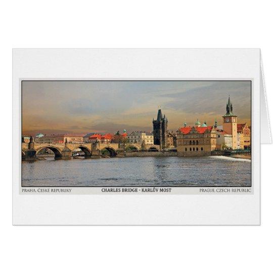 Prague - Charles Bridge Pano Card