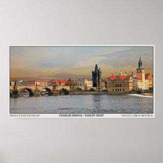 Prague - Charles Bridge Pano Poster