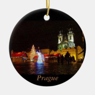 Prague Christmas Night Travel Ornament