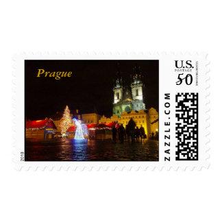 Prague Christmas Postage Stamps