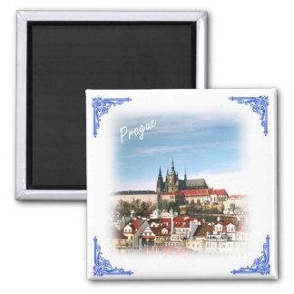 Prague city and castle-Czech republic magnet