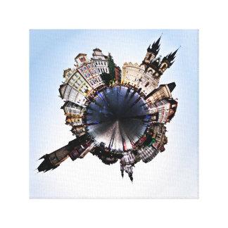 Prague City Center - Polar Exposed Canvas Print