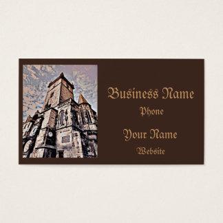 Prague City Hall Business Card