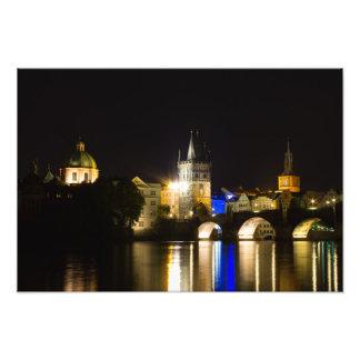 Prague Cityscape at Night Photograph