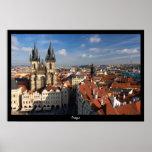 Prague Cityscape Posters