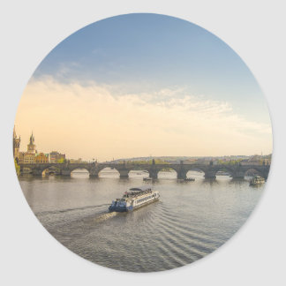 Prague Classic Round Sticker