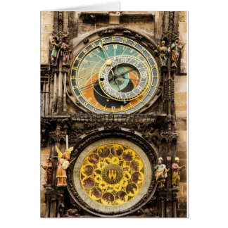 Prague clock card