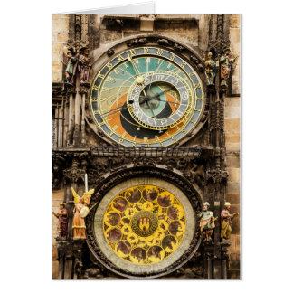 Prague clock stationery note card