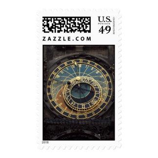 Prague Clock Stamp