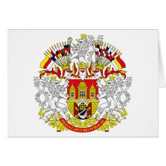 Prague Coat of Arms Greeting Card