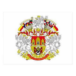 Prague Coat of Arms Postcard