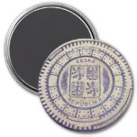 Prague Coat of Arms Sewer Cover 3 Inch Round Magnet