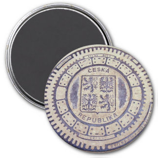 Prague Coat of Arms Sewer Cover Magnet