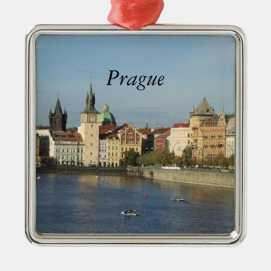 Prague Czech Gift Travel Square Ornament Praha