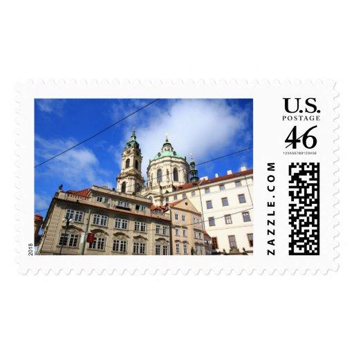 Prague, Czech Photo Postage Stamp