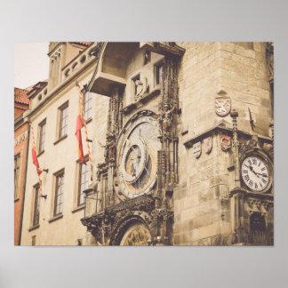 Prague, Czech Republic astronomical clock Poster