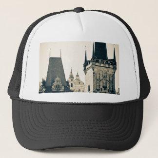 Prague, Czech Republic - Charles Bridge Tower Gate Trucker Hat