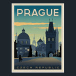 "Prague, Czech Republic Postcard<br><div class=""desc"">Anderson Design Group is an award-winning illustration and design firm in Nashville,  Tennessee. Founder Joel Anderson directs a team of talented artists to create original poster art that looks like classic vintage advertising prints from the 1920s to the 1960s.</div>"