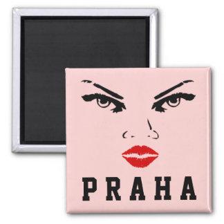 Prague Czech Republic, Praha Ceska Republika Woman 2 Inch Square Magnet