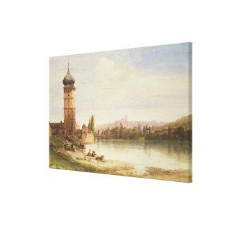 Prague, Czechoslovakia Gallery Wrapped Canvas