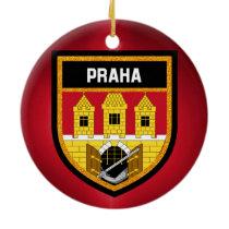Prague  Flag Ceramic Ornament
