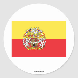 Prague Flag Classic Round Sticker