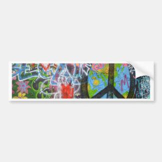 Prague Graffiti Bumper Sticker