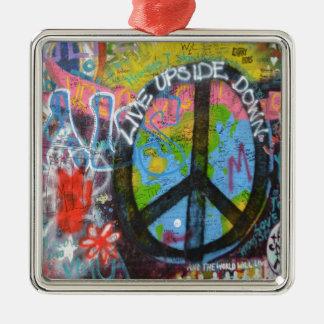 Prague Graffiti Metal Ornament