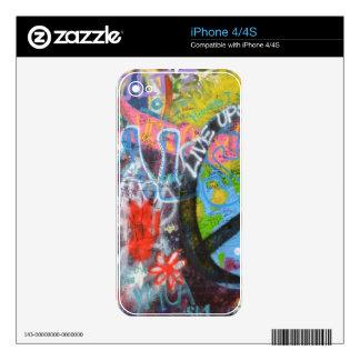 Prague Graffiti Decal For iPhone 4